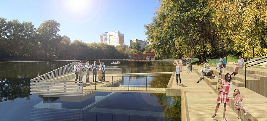 Krasnogvardeisky ponds wowhaus for Design of pond embankment